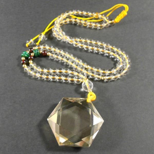 Hegyikristály gyógyító csillag medál nyakláncon